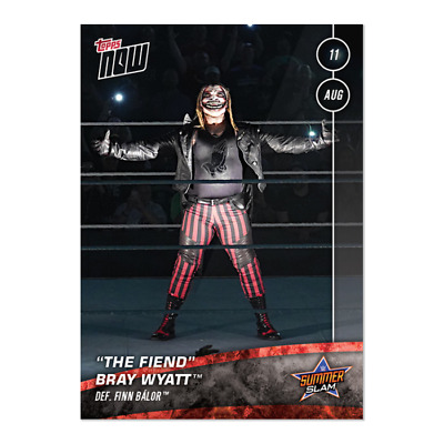 "2019 Topps Now Wwe #46 ""the Fiend"" Bray Wyatt Defeats Fin Balor At Summerslam"