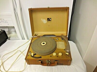 RCA Victor Victrola Dog 4-Speed Record Player Phonograph-RCA Suitcase Carrier