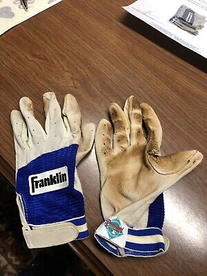 Chipper Jones Game Used Batting Gloves by Franklin/1990's
