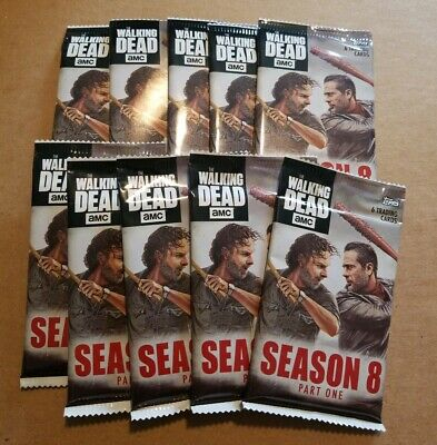 Topps The Walking Dead Season 8 Lot Of 10 Unopened Packs 6 Cards Per Pack