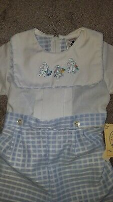 Vintage NEW Infant Baby Boys GOOD LAD blue EASTER OUTFIT 24 M Months