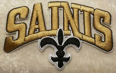 """New Orleans Saints Gold 4"""" Iron On Embroidered Patch ~USA Seller"""