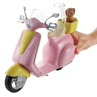 Barbie FRP56 ESTATE MoPed Motorbike for Doll, Pink Scooter, Vehicle,