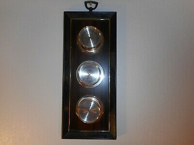 VTG Springfield Weather Station 3 Gauge Wall Mount Barometer Humidity Thermometr