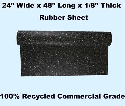 """Rubber Sheet  24"""" Wide x 48"""" Long x 1/8"""" Thick  100% RECYCLED  Commercial Grade"""