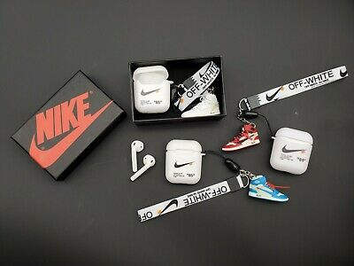 Off White Inspired Airpods Silicone Soft Case With 3d Mini