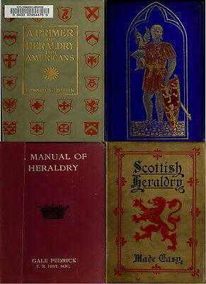 161 Rare Old Books On Heraldry, Family Crests Emblems & Shields Genealogy On Dvd