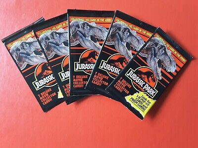 1993 Dynamic Marketing Jurassic Park 5 x Sealed Pack of Collector Cards