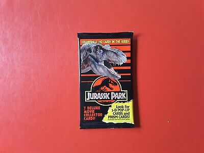 1993 Dynamic Marketing Jurassic Park 1 x Sealed Pack of Collector Cards