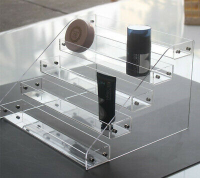 2-6Tier Clear Acrylic  Display Shelf Showcase for Action Figure Bauble Cosmetics