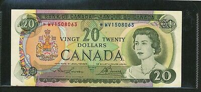 1969 Bank of Canada $20 Replacement *WV Lawson-Bouey. BC-50bA. EF