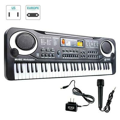 61 Key Music Electronic Keyboard Electric Digital Piano Organ with Microphone XX