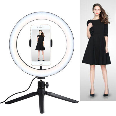 LED Ring Light Cell Phone Holders with Tripod Stand for Video Shooting Makeup