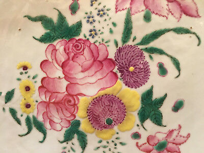 A Large and Rare Chinese Famille Rose Porcelain Charger #1, Kangxi Period.