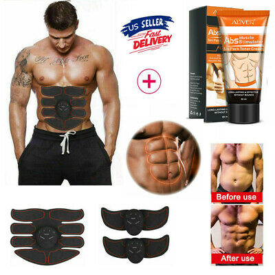 Ultimate EMS Arms Abdominal Muscle Simulator ABS Training Slimming Toner Cream