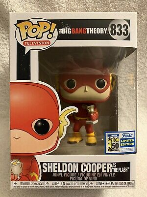 SDCC 2019 Funko Pop! Big Bang Theory Sheldon as The Flash Official Sticker