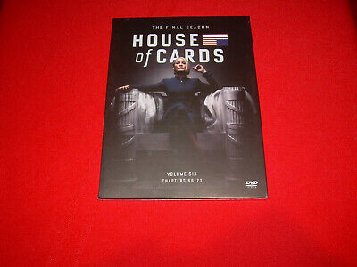 The Complete Sixth & FINAL Season 6 Six NEW Sealed HOUSE OF CARDS DVD 2018