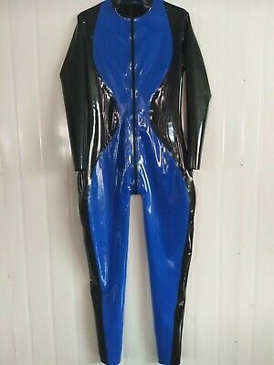 Latex  Rubber Suit Fashion  uniform Ganzanzug Tight Catsuit Gummi Cosplay Rubber