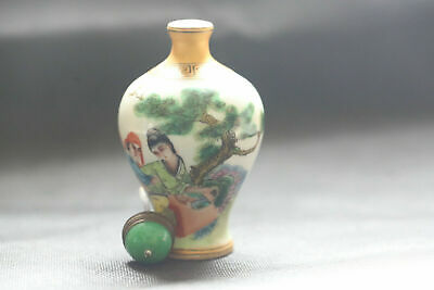About the ancient Chinese exquisite hand-painted ceramic snuff bottle  d8