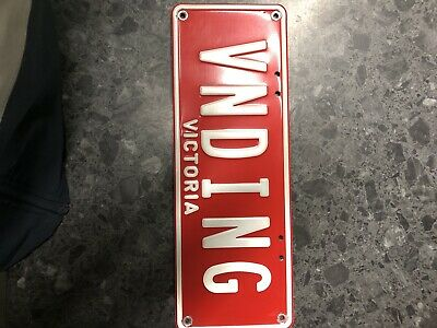 Vending VNDING Victorian Custom Number Plates