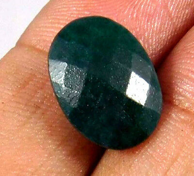 Dyed Faceted Beryl Emerald Gemstone 5 ct 12x9mm AQ1004