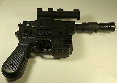Vintage 1977 Star Wars Han Solo Laser Blaster Pistol Gun Broken Scope