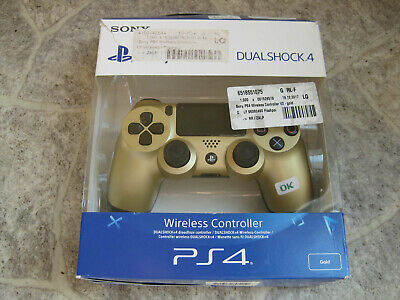 SONY PlayStation 4 DUALSHOCK Wireless Controller Gold OVP B-WARE