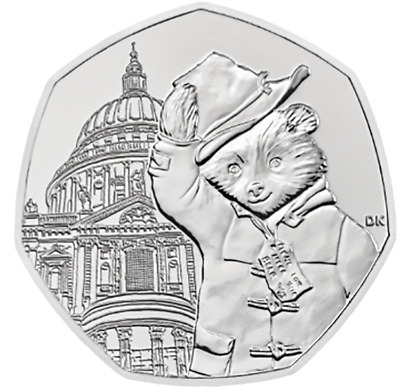 PRE-ORDER! - 2019 PADDINGTON BEAR AT ST. PAUL'S CATHEDRAL 50p PENCE COIN PACK!