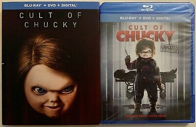 New Cult Of Chucky Unrated Blu Ray Dvd Digital Hd + Best Buy Exclusive Slipcover