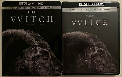 The Witch 4K Ultra Hd Blu Ray 2 Disc Set + Slipcover Sleeve Free World Shipping