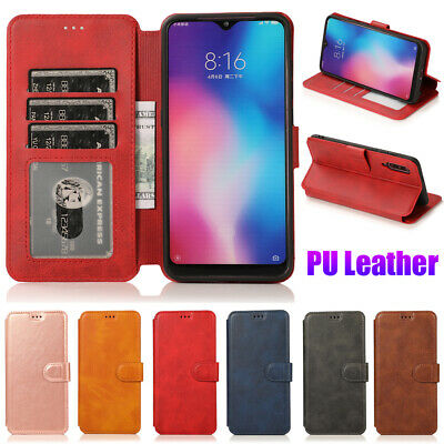 PU Leather Flip Wallet Card Holder Stand Case Cover For Xiaomi Redmi Note 5 Pro