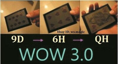 WOW 3.0 The Ultimate Wow Magic Trick Card Change Sleeve Close Up Street Parlor