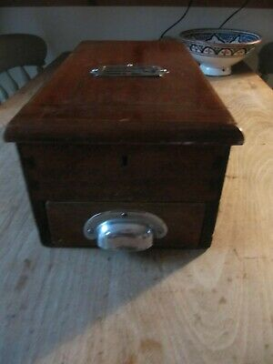 vintage retro wooden shop till, cash register. Prop with working bell.**