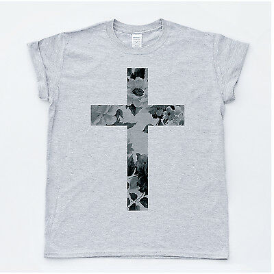 Crucifix /& Chain T Shirt You Choose Style Size Color Up to 4XL 20007