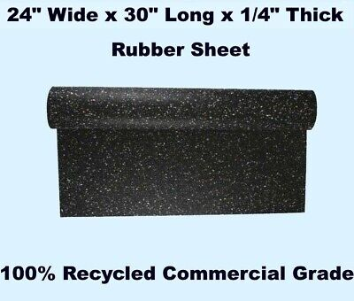 """Rubber Sheet  24"""" Wide x 30"""" Long x 1/4"""" Thick  100% RECYCLED  Commercial Grade"""