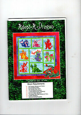 Adopt-A-Dragon  Block of the Month Set   9 Dragon Patterns