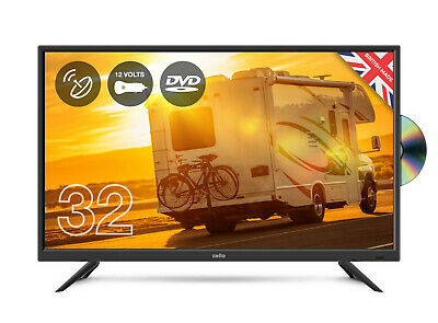 "CELLO 32"" inch 12v volt LED TV DVD & SAT FREEVIEW HD 1080P HDMI & USB CARAVAN TV"