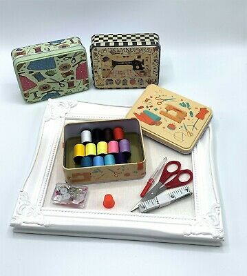 Sewing Kit - Travel Sewing Tin - Fully Stocked - 3 Designs - Christmas Stocking