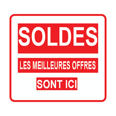 Stickers autocollant mural vitrine magasin SOLDES LES MEILLEURES OFFRES SONT ICI