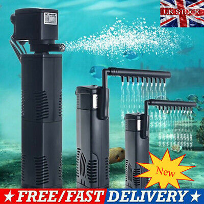 Fish Tank Filter Submersible For Internal Aquarium Spray Bar Included UK Stock