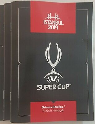 2019 UEFA SUPER CUP FINAL LIVERPOOL v CHELSEA RARE DRIVERS BOOKLET