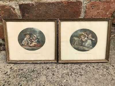 Antique Pair Of French Prints