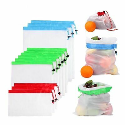 Premium Reusable Mesh Produce Bag, Eco-Friendly Grocery Shopping Storage, 3 size