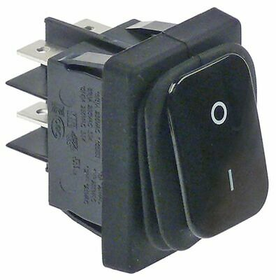 Rocker Switch Mounting Measurements 30X22Mm 2No 230V 20A 0-1 Connection 6.3Mm