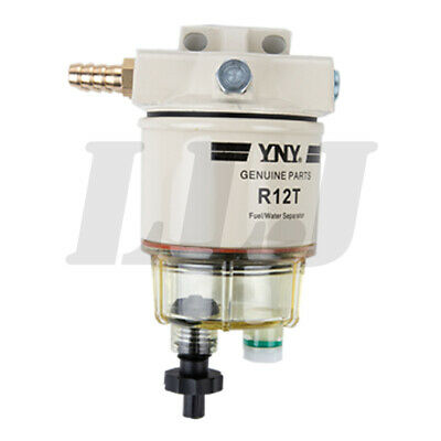 Water Separator Fuel Filter R12T 120AT with Fuel Fittings for Boats Trucks Van
