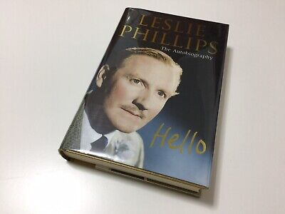 Leslie Phillips Actor Autobiography Hello Signed & Dated Xmas 06 Hardback Book