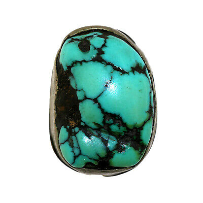 (2565) Antique Tibetan Turquoise Set in Silver and Copper