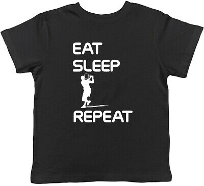 Eat Sleep Tennis Repeat Boys Girls Childrens Kids T-Shirt