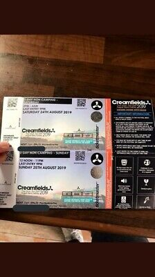 Creamfields Tickets  SAT AND SUN NO CAMPING