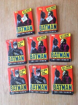 1989 Batman Topps Trading Cards 8 Unopened packs cards stickers bubblegum
